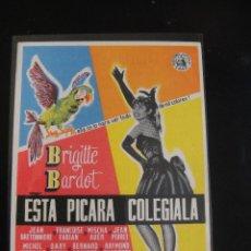 Cine: ESTA PICARA COLEGIALA - CINE AVENIDA - ORIHUELA. Lote 133968362