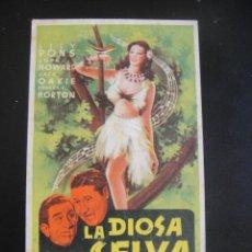 Cine: LA DIOSA DE LA SELVA - SIN PUBLICIDAD. Lote 133969274