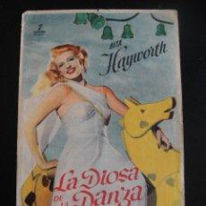 Cine: LA DIOSA DE LA DANZA - GRAN CINEMA - SANTANDER. Lote 133969598