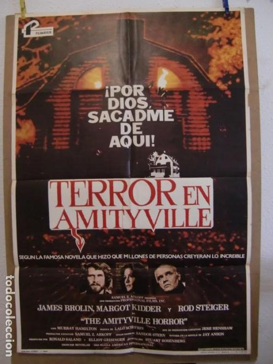 CARTEL CINE ORIG TERROR EN AMITYVILLE (1979) 70X100 / JAMES BROLIN / MARGOT KIDDER / ROD STEIGER (Cine - Folletos de Mano - Terror)