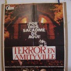 Cine: CARTEL CINE ORIG TERROR EN AMITYVILLE (1979) 70X100 / JAMES BROLIN / MARGOT KIDDER / ROD STEIGER. Lote 133994134