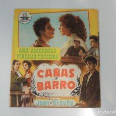 Cine: BALARRASA - FOLLETO MANO ORIGINAL DOBLE - JUAN DE ORDUÑA BLASCO IBAÑEZ CIFESA. Lote 134005354