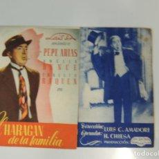 Cine: EL HARAGAN DE LA FAMILIA - FOLLETO MANO ORIGINAL DOBLE - PEPE ARIAS LUIS C AMADORI. Lote 134005574