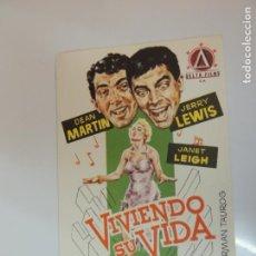 Cine: VIVIENDO SU VIDA - FOLLETO MANO ORIGINAL - DEAN MARTIN JERRY LEWIS JANET LEIGH JANO. Lote 134011222