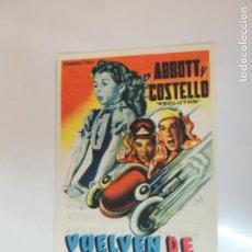 Cine: VUELVEN DE LA GUERRA ABBOTT Y COSTELLO RECLUTAS - FOLLETO MANO ORIGINAL - IMPRESO. Lote 134011454