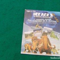 Cine: ICE AGE 3. EL ORIGEN DE LOS DINOSAURIOS. . Lote 134015706