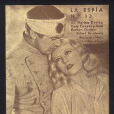 Cine: P-5948- LA ESPÍA Nº 13 (OPERATOR 13) MARION DAVIES GARY COOPER - JEAN PARKER - KATHARINE ALEXANDER. Lote 134057886