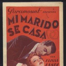 Cine: P-6798- MI MARIDO SE CASA (ENTER MADAME) (DOBLE) (INTERIOR AZUL VERDOSO) ELISSA LANDI - CARY GRANT. Lote 134057946