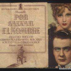 Cine: P-2733- POR SALVAR EL NOMBRE (DOBLE) (EMILIO PETACCI - MARÍA MERCADER). Lote 134058283