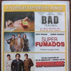 Cine: BAD TEACHER / SUPER FUMADOS / SUPERSALIDOS / BIENVENIDOS A ZOMBIELAND. Lote 134062218