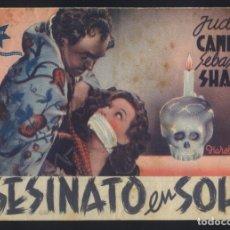 Cine: P-6962- ASESINATO EN SOHO (EAST OF PICCADILLY) (DOBLE) (TEATRO VILLAMARTA - JEREZ) JUDY CAMPBELL. Lote 134064254