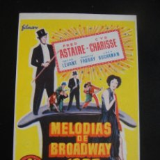 Cine: MELODIAS DE BROADWAY 1955 - CINE COSO - ZARAGOZA. Lote 134067098