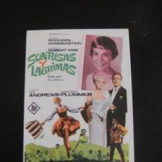 Cine: SONRISAS Y LAGRIMAS - SIN PUBLICIDAD. Lote 134068074