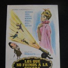 Cine: LOS QUE NO FUIMOS A LA GUERRA - SIN PUBLICIDAD. Lote 134068686