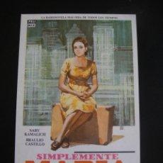 Cine: SIMPLEMENTE MARIA - SIN PUBLICIDAD. Lote 134068922