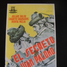 Cine: EL SECRETO DE JUAN PALOMO - CINE DORADO - ZARAGOZA. Lote 134069062