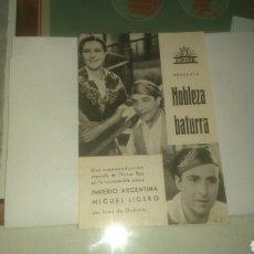 Cine: NOBLEZA BATURRA. IMPERIO ARGENTINA, MIGUEL LIGERO. CIFESA.. Lote 134083759