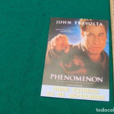 Cine: PHENOMENON. INTÉRPRETES: JOHN TRAVOLTA, KYRA SEDGWICK,... AÑO 1996.. Lote 134102786