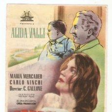 Cine: CANTO A LA VIDA - ALIDA VALLI, MARÍA MERCADER, CARLO NINCHI - DIRECTOR C.GALLONE - CIFESA. Lote 134164726