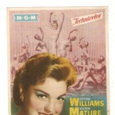 Cine: LA PRIMERA SIRENA - ESTHER WILLIAMS, VICTOR MATURE, WALTER PIDGEON - DIRECTOR MERVYN LEROY - M.G.M.. Lote 134212838