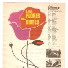 Cine: LAS FLORES DEL DIABLO - YUL BRYNNER, ANGIE DICKINSON, STEPHEN BOYD - DIRECTOR TERENCE YOUNG. Lote 134216086
