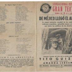 Cine: DE MEJICO LLEGO EL AMOR ( SELECCIONES OROLEY FILMS ). Lote 134289510