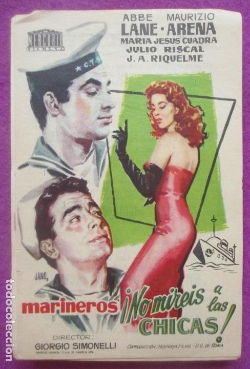 LOTE 46 PROGRAMAS DE MANO, PROGRAMA CINE, MARINEROS, NO MIREIS A LAS CHICAS, IGUALES, L11 (Cine - Folletos de Mano - Comedia)