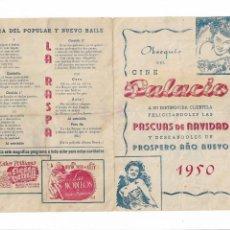 Cine: FELICITACIÓN NAVIDEÑA 1950 ( LAS MODELOS - FIESTA BRAVA - LA RASPA ). Lote 134317910