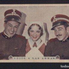 Cine: ADIÓS A LAS ARMAS. PROGRAMA, TARJETA SIN PUBLICIDAD.. Lote 134326966