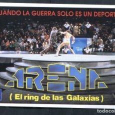 Cine: PROGRAMA ORIGINAL ARENA EL RING DE LAS GALAXIAS PEGATINA. Lote 134333710