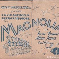 Cine: MAGNOLIA - IRENE DUNNE - ALLAN JONES - PROGRAMA DOBLE SIN PUBLICIDAD RF-1660. Lote 134352230