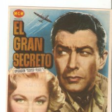 Cine: EL GRAN SECRETO - ROBERT TAYLOR, ELEANOR PARKER, JAMES WHITMORE, MARILYN ERSKINE - M.G.M.. Lote 134357482