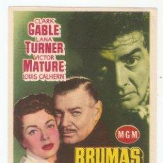Cine: BRUMAS DE TRAICIÓN - CLARK GABLE, LANA TURNER, VICTOR MATURE - DIRECTOR GOTTFRIEND REINHARDT - M.G.M. Lote 134360546