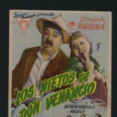 Cine: LOS NIETOS DE DON VENANCIO. PROGRAMA SENCILLO SIN PUBLICIDAD.. Lote 134364974