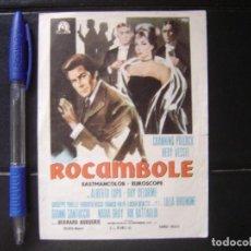 Cine: PROGRAMA DE MANO - ROCAMBOLE - KURSAAL. Lote 134378166