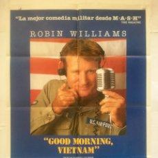 Folhetos de mão de filmes antigos de cinema: GOOD MORNIN VIETNAM - POSTER CARTEL ORIGINAL CINE - ROBIN WILLIAMS GUERRA BARRY LEVINSON. Lote 134594510