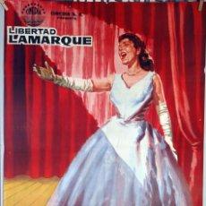 Cine: BAMBALINAS. CARLOS MONTALBÁN-TULIO DEMICHELI. CARTEL ORIGINAL 1961. 70X100. Lote 134679482