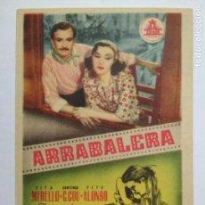 Cine: FOLLETO DE CINE, ARRABALERA, ORIGINAL SIN PUBLICIDAD. Lote 134831070