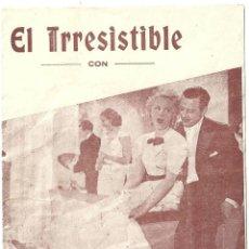 Cine: PTEB 020 EL IRRESISTIBLE PROGRAMA DOBLE HISPANIA TOBIS ANNY ONDRA. Lote 135006370