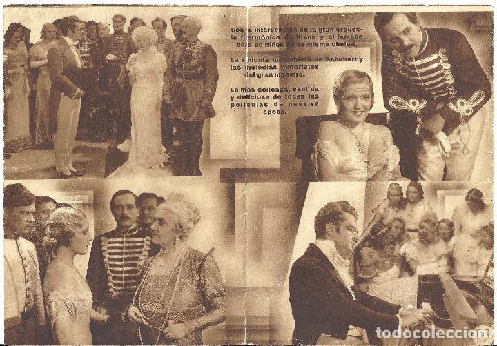Cine: PTEB 020 VUELAN MIS CANCIONES PROGRAMA DOBLE U FILMS MARTHA EGGERTH - Foto 2 - 135024474
