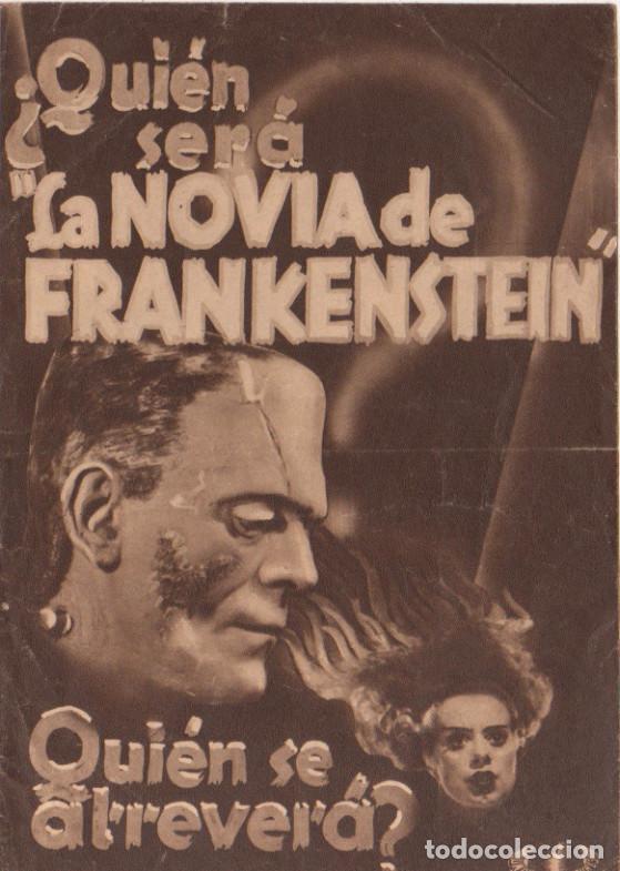 LA NOVIA DE FRANKENSTEIN. BORIS KARLOFF. PROGRAMA DOBLE 1935 (Cine - Folletos de Mano - Terror)