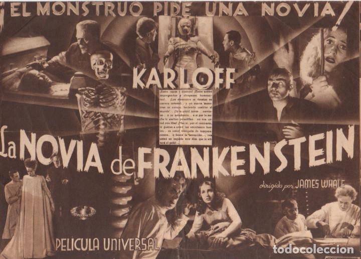 Cine: LA NOVIA DE FRANKENSTEIN. BORIS KARLOFF. PROGRAMA DOBLE 1935 - Foto 2 - 135031454