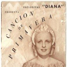 Cine: PTEB 020 CANCION DE PRIMAVERA PROGRAMA DOBLE DIANA CLAIRE FUCHS. Lote 135031742