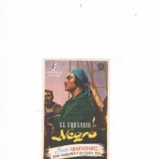 Cine: FOLLETO DE MANO CINE EL CORSARIO NEGRO PEDRO ARMENDARIZ CINEMA VICTORIA 1947 JUNE MARLOWE LUISA ZEA. Lote 135040394