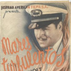 Cine: PTEB 021 MARES TURBULENTOS PROGRAMA DOBLE UNIVERSAL JACK HOLT ROBERT ARMSTRONG. Lote 135097598