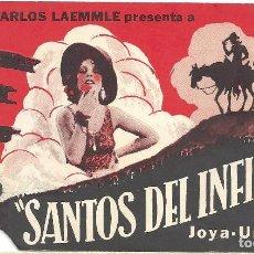 Cine: PTEB 021 SANTOS DEL INFIERNO PROGRAMA DOBLE UNIVERSAL CHARLES BICKFORD RAYMOND HATTON. Lote 135100406
