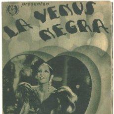 Cine: PTCC 022 LA VENUS NEGRA PROGRAMA DOBLE DISTRIBUIDORES REUNIDOS JOSEPHINE BAKER JEAN GABIN. Lote 135124630