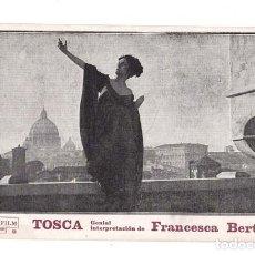 Cine: TOSCA PROGRAMA TARJETA CAESAR FILM FRANCESCA BERTINI. Lote 135145250