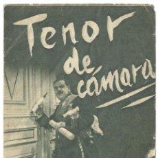 Cine: PTEB 023 TENOR DE CAMARA PROGRAMA DOBLE SELECCIONES FILMOFONO LEE PARRY CARL JÖKEN. Lote 135148654