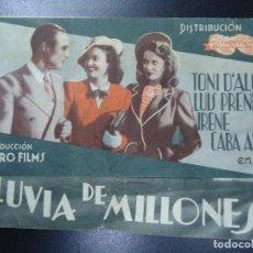 Cinema - LLUVIA DE MILLONES 1939 TONI D´ALGI LUIS PRENDES IRENE CABA ALBA DURO FILMS DOBLE PUBLICIDAD - 135229758